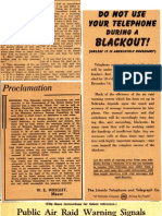Blackout News Clippings (1942)