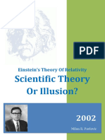 Einstein Theory of Relativity - Scientific Theory or Illusion?