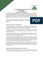 PRONUNCIAMIENTO PARTIDO TIERRA Y LIBERTAD PERU 18 Set 2016