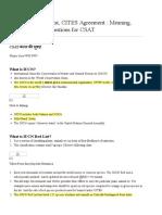 IUCN Red List & CITES Agreement