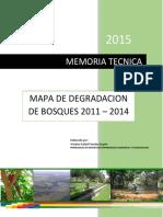 Memoria Tecnica Mapa de Degradacion de Bosques 2015