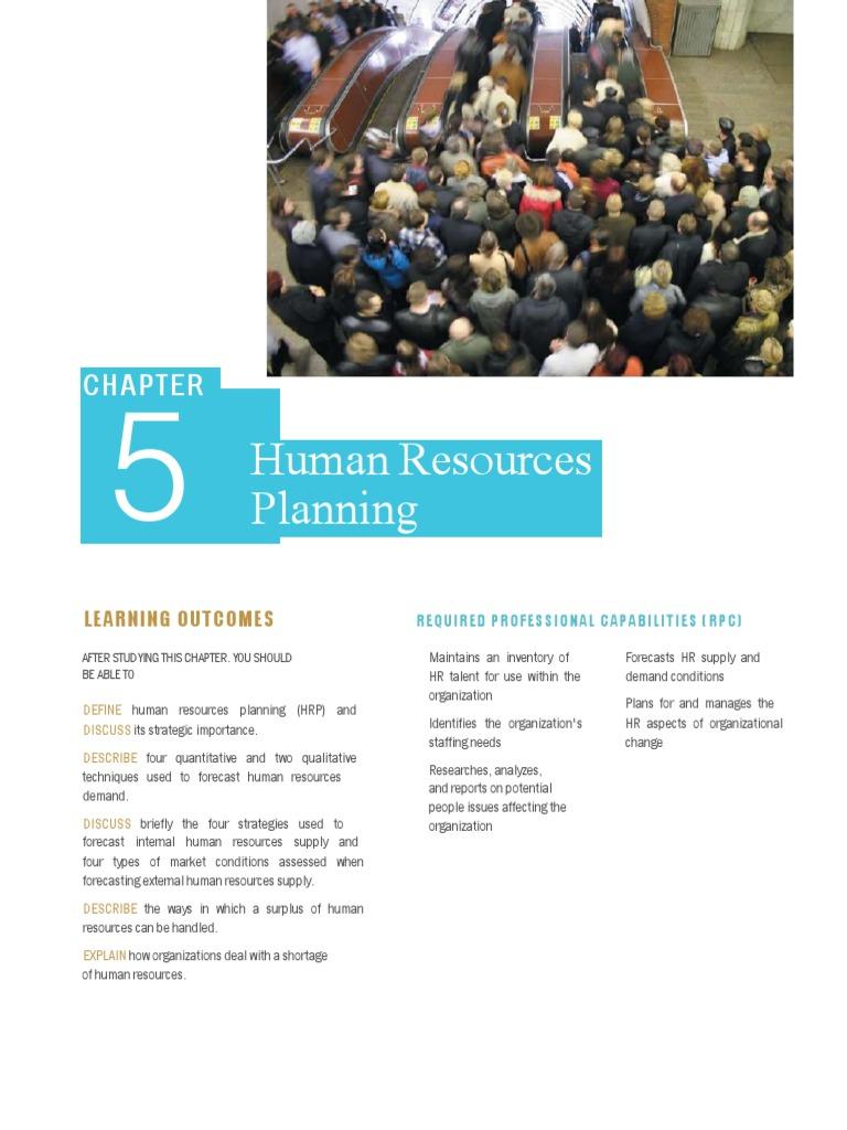 HR-Chapter5 pdf | Labour Economics | Employment