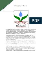 Programas Asistenciales en México
