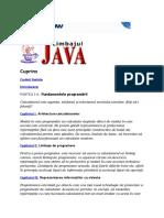 Fundamentele programării JAVA in Romana