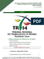 Aula9 Dir Proc Civil TE TJAA TRT14 98766