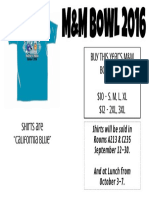 m and m bowl flyer