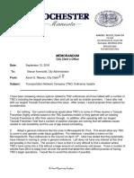 City of Rochester TNC memo
