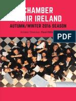 Chamber Choir Ireland Autumn Winter Season Brochure