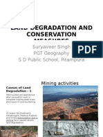 LAND DEGRADATION AND CONSERVATION