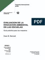 Evaluacion de La Educacion Ambiental Escuelas