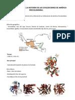 Proceso Histórico de La Historia de Las Civilizaciones de América Precolombina