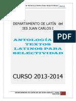 Antología de Textos Latinos Para Selectividad 2015-2016