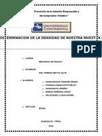 Informe de Mecanica de Rocas DENSIDA