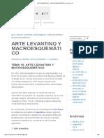 Arte Levantino y Macroesquemático