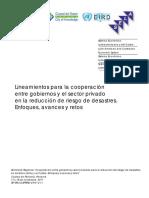 Lineamientos Para La Cooperacion Entre Gobiernos y El SectorPrivado