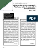 El Desempeño Docente de Los Contadores Publicos a La Luz de La Sociedad Del Conocimiento