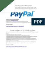 Recargar Saldo Paypal en PERU Sin Tarjeta