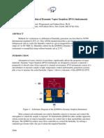 Humidity Calibration of Dynamic Vapor Sorption (DVS) Instrument