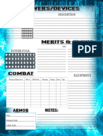 Cyber Character Sheet 2
