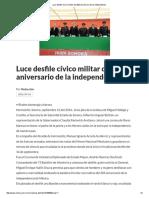 16/09/16 Luce Desfile Cívico Militar Del 206 Aniversario de La Independencia - Critica
