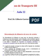 Aula 12 - Transferência de Massa entre fases - Absorção e dessorção - Determinação do diâmetro da torre de recheio.pdf