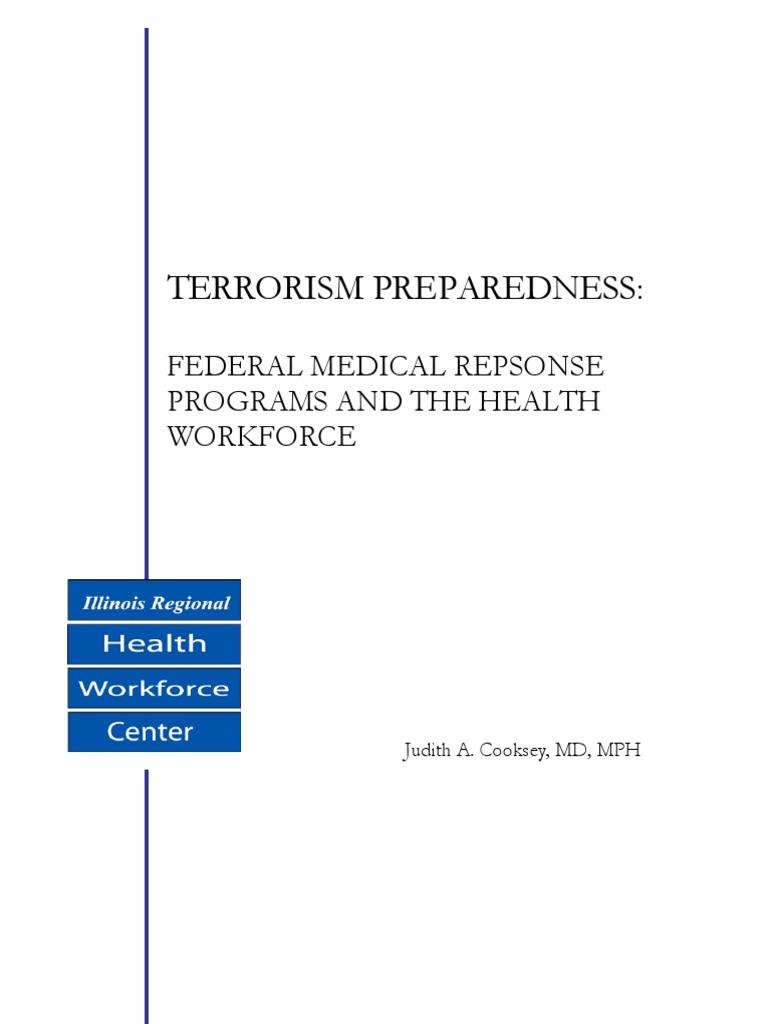 Terrorism Preparedness:: Federal Medical Repsonse Programs ...