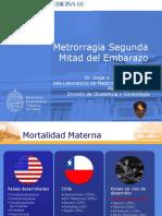 Metrorragia 2a mitad gestaci+¦n 2012