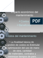 Impacto Economioco Del Mantenimiento