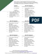 idea development post-its
