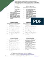 sentence fluency post-its