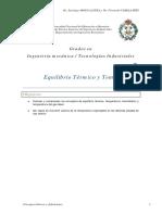 Tema 2. Equilibrio Térmico y Temperatura