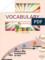 VOCABULARY (Synonyms and Antonyms)