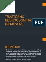 Trastorno Neurocognitivo Mayor Demencia