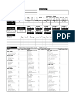 Cyberpunk Character Sheet for Excel