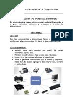 Harware y Software de La Computadora