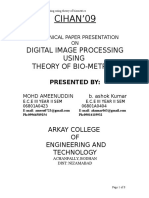 Digital Image Processing by Using the Theory Ofbiometrics
