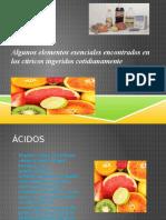 Algunos Elementos Esenciales Encontrados en Los Cítricos Ingeridos