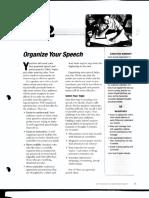 BCLP Speech 2 - Organize Your Speech