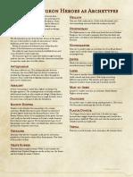 Darkest Dungeon Heroes as Archetypes