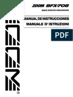 Zoom BFX-708 (Spanish manual)