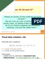 Econometrics PPT Final Review slides