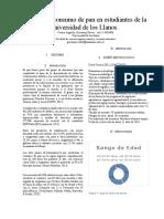 Análisis de Consumo de Pan en Estudiantes de La Universidad de Los Llanos