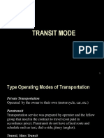 3 - Mass Transit Mode
