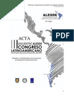 Actas ALESDE 2012