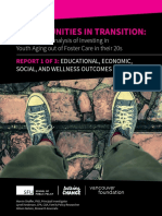 Fostering Change Opportunities in Transition Report 1 - Educational, Economic, Social, and Wellness Outcomes