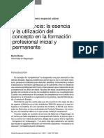 Competencia Esencia Utilizacion Concepto Formacion Incial Permanente