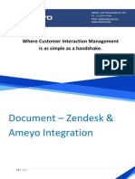 Zendesk & Ameyo Integration Approach Document