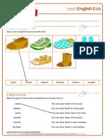 Worksheets Shoes v2