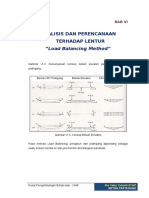Bab 6 Analisis San Perencanaan Terhadap Lentur Load Balancing Method (1)