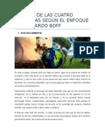 Leonardo Boff- 4 Ecologías